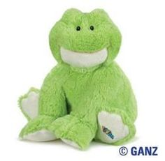 """Webkinz Jr. 12"""" Frog by Ganz - WJ105  It's easy being green when you're a Webkinz Jr. Frog! Pick up this 12 inch furry friend and get ready to have loads of froggy fun! Each lovable WebKinz plush pet comes with their very own Secret Code. Use this special code to log on to WebKinz World to not only care for your pet, but also answer trivia, earn KinzCash and play fun kids games! For ages 3 and up."""