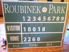 Baseball Scoreboard Custom Made Last Name By Goodluckcharliehome 28900