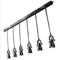Industriele vintage Spider Hanglamp