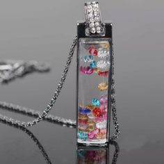 Floating multicolor Necklace  Jewelry Necklaces