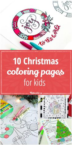 10 Free Christmas coloring pages for kids. via @tipjunkie