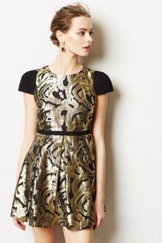 Gorgeous black and gold holiday dress