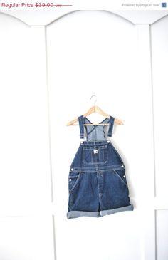 BUM denim shortalls / 90s GRUNGE short overalls door onefortynine