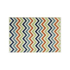 Momeni Baja Chevron Indoor Outdoor Rug, Multicolor