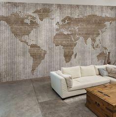 carta da parati mappa mondo