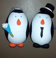 My DIY Penguin Cake Toppers :  wedding cake diy reception winter wedding Penguin Cake Toppers