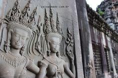 detalhes de Angkor Wat