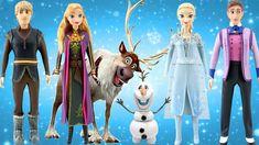 Play Doh Disney FROZEN 2 New Styles!!!  Elsa, Anna, Kristoff, and Hans D... Anna Kristoff, Elsa Anna, Disney Princess Dresses, Disney Dresses, Disney Frozen 2, Disney Dolls, Inspirational Celebrities, Play Doh, Popular Music