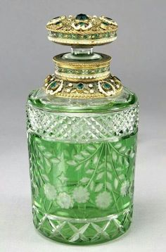 cut glass green