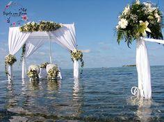 3 Bridal, Wedding, Floral Decorations, Islands, Flowers, Wedding On The Beach, Valentines Day Weddings, Weddings, Bride