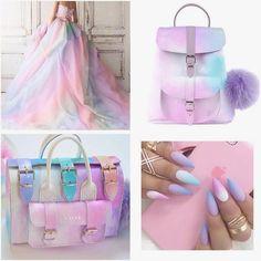 Beautiful ❤️ Yes or no ? Harajuku Fashion, Kawaii Fashion, Mode Cool, Unicorn Fashion, Real Unicorn, Pastel Fashion, Orange Fashion, Fashion Hair, Diy Fashion