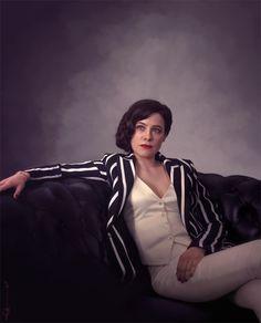 Alana Bloom from Hannibal, drawn in PS. Hannibal Cast, Hannibal Tv Show, Hannibal Series, Hannibal Lecter, Kathryn Hahn, Professional Wardrobe, Power Dressing, Office Fashion, Women's Fashion