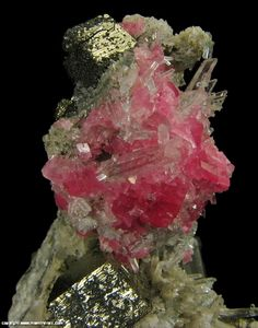 Mineral Specimen 2126 Rhodochrosite, Pyrite, Quartz from Sweet Home Mine, Alma, Park Co, Colorado for sale M & W Minerals Fine Mineral Specimens