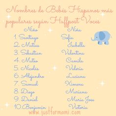 10 Nombres de Beb�s m�s Populares 2013