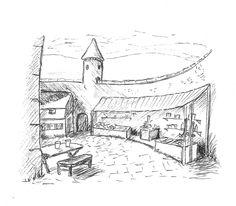 Inside Castle Deeping #Inktober day 30 @jemima_pett #princelings book 8 Inside Castles, Inktober, Day, Books, Livros, Libros, Book, Book Illustrations, Libri