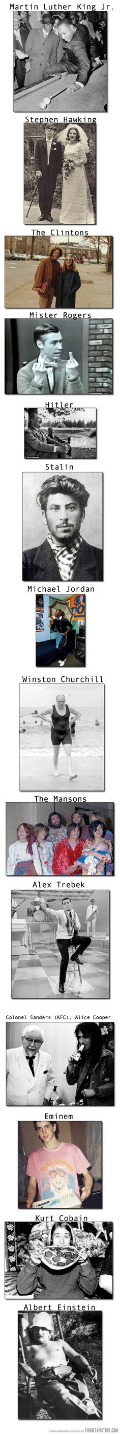 Rare Photos Of Legendary People....the Clintons nearly killed me, and then I saw Churchill.....