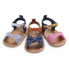 3ee076f3 US $2.36 10% Off | new cute Toddler Infant Baby Girl sandals Soft Sole  Summer