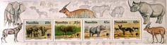 Stamp: Endangered Animals - MiNo. 735-38 (Namibia) (Animals) Mi:NA BL17,Sn:NA…