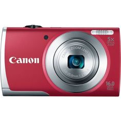 $69 Canon PowerShot A2500 16MP Digital Camera with 2.7-Inch LCD (Red). Point & Shoot-No worries