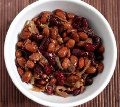 Sweet and Sour Beans #slowcooker #recipe #sidedish