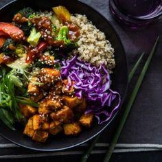 30 Warm and Cozy Grain Bowls to Make This Winter - Buddha bowl rezepte Vegetarian Recipes, Healthy Recipes, Healthy Food, Healthy Cooking, Dinner Healthy, Easy Cooking, Vegan Food, Yummy Recipes, Recipies