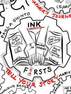visual notes on Paula Guinto's Ink Learning2 talk by Nicki Hambleton