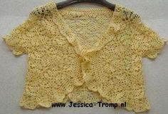 crochet square pattern for bolero