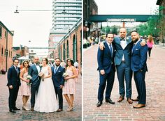 35mm film wedding photographer in Toronto at Distillery District