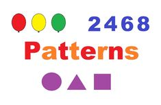 Children's learning video with color patterns, shape patterns, and number patterns. Number Patterns, Shape Patterns, Color Patterns, Shapes, Songs, Math, Learning, Numbers, Colors