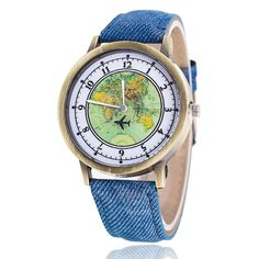 Global Travel Denim Band Casual Women Wristwatches     Tag a friend who would love this!     FREE Shipping Worldwide     Get it here ---> http://hisandhertrove.com/global-travel-denim-band-casual-women-wristwatches/