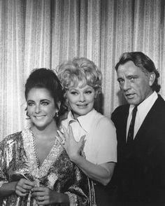 Elizabeth Taylor, Lucille Ball and Richard Burton.  One of the funniest episodes when Lucy gets Elizabeth Taylor's Diamond ring stuck on her hand and pretends to be Elizabeth's arm.
