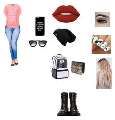 it me and u by beauitfulasiam on Polyvore featuring polyvore fashion style Replace City Chic Under Armour Casetify Prada Yves Saint Laurent Lime Crime clothing