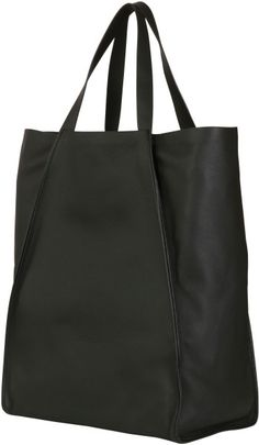 Dior Homme Grained Calfskin Shopper Tote in Black - Lyst
