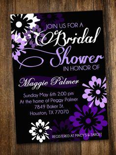 Purple Bridal Shower Invite