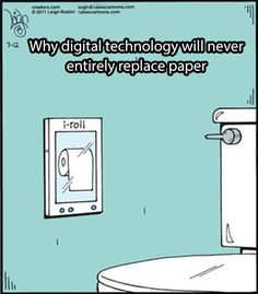 Funny Pictures: Digital Technology Vs. Paper