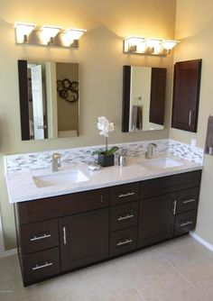 Contemporary Master Bathroom with Satin Nickel 3-3/4 Inch Center to Center Bar Cabinet Pull, High ceiling, Master bathroom