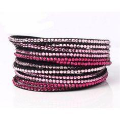 Wrap Bracelets | Crystals Bracelet, Pink | UniikStuff