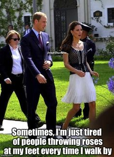 The Inner Duchess of Kate Middleton, I miss a clear walking space