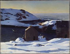 Rockwell Kent (American, 1882–1971). Winter, Monhegan Island, 1907. The Metropolitan Museum of Art, New York. George A. Hearn Fund, 1917 (17.48.2) © Rockwell Kent