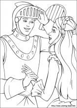 Barbie as the Princess and the Pauper coloring pages on Coloring-Book.info