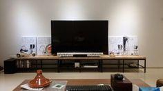 Contemporary wooden-top TV bench - IKEA Hackers
