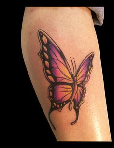 Purple Butterfly tattoo I Tattoo, Cool Tattoos, Purple Butterfly Tattoo, Piercings, Bucket, Image, God Tattoos, Piercing, Buckets