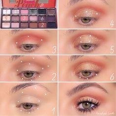 Oldie but a goodie🍑 Sweet Peach Eyeshadow Palette Peac.-- Oldie but a goodie🍑 Sweet Peach Eyeshadow Palette Peach- base Yum- transition and lower lash line Peach Eye Makeup, Peach Eyeshadow, Eye Makeup Steps, Makeup Eye Looks, Skin Makeup, Eyeshadow Makeup, Beauty Makeup, Makeup Kit, Metallic Eyeshadow