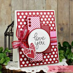 Love You by PaperCrafty - Cards and Paper Crafts at Splitcoaststampers Homemade Valentine Cards, Valentines Day Cards Handmade, Valentine Crafts, Greeting Cards Handmade, Homemade Cards, Love Cards Handmade, Homemade Greeting Cards, Printable Valentine, Valentine Box