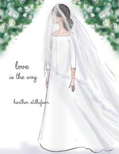 The Royal Wedding was beautiful. Heather's tribute to The Dutchess of Sussex and all bride . See more of Heather's illustrations, cards, books, calendars, planners, etc. on Facebook, Instagram and shop on Etsy. All images ans quotes are copyright protected.