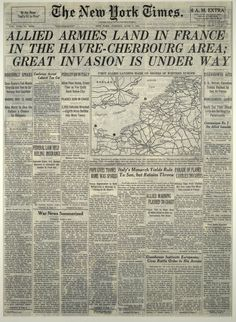 June 6, 1944. The New York Times.