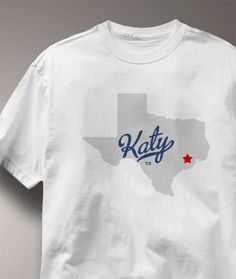 Cool Katy Texas TX Shirt from Greatcitees.com