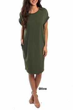 Brigitte Pocket Tee Dress – SexyModest Boutique
