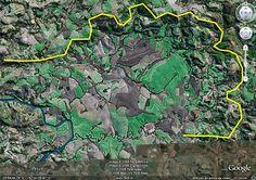 Cratera de Impacto Vista Alegre, uma depressão no terreno formada pelo impacto de um corpo celeste ainda no período Cretáceo, situada no município de Coronel Vivida. Foto Gil Piekarz e Imagem de Satélite Google Earth.