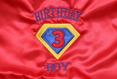 Super Birthday Cape by lsembroidery on Etsy